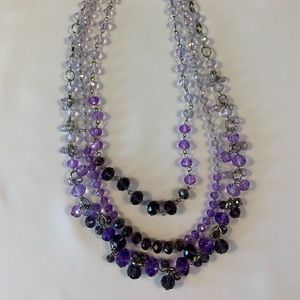 NWT WHBM Purple Necklace